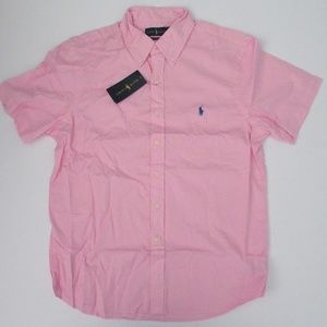 Ralph Lauren SS Featherweight Twill Shirt Pink NEW